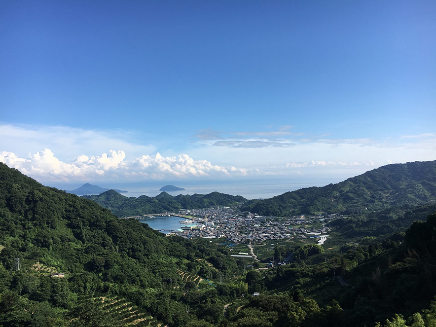 中島の山道から